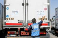 FILE PHOTO: COVID-19 vaccine arrives in Baghdad