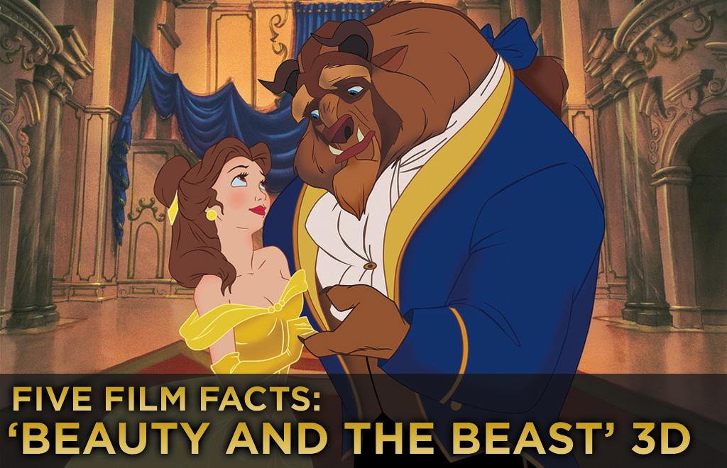 """This weekend brings us the re-release of the Disney classic """"<a href=""""http://movies.yahoo.com/movie/1800341693/info"""">Beauty and the Beast</a>."""" But this is not your mama's Disney flick; this time around, the Beast gets burlier, Belle gets prettier, and the dishes get even more hospitable, as Disney has given the """"tale as old as time"""" the 3D love. Sure you know the story, but check out these five fun facts you may not know.   <a href=""""http://movies.yahoo.com/showtimes-tickets/movies/1800341693-movie/"""">Find tickets for 'Beauty and the Beast' >></a>"""