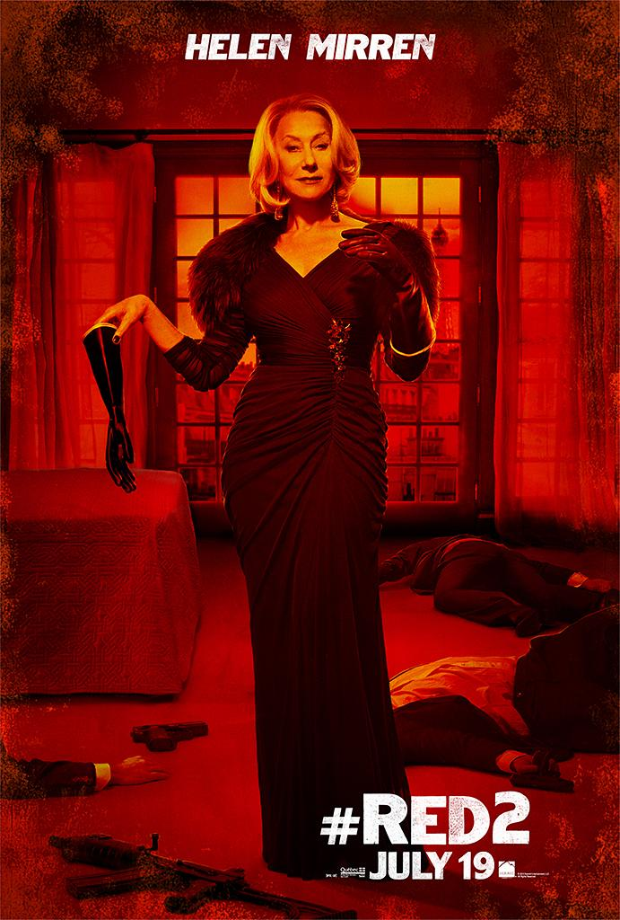 """Helen Mirren in Summit Entertainment's """"RED 2"""" - 2013<br><br> <a href=""""http://l.yimg.com/os/251/2013/04/24/Red2-OnlineCharacter-posters-HM-fin5-jpg_165208.jpg"""" rel=""""nofollow noopener"""" target=""""_blank"""" data-ylk=""""slk:View full size >>"""" class=""""link rapid-noclick-resp"""">View full size >></a>"""