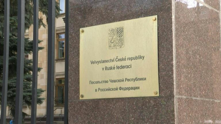 Images of the Czech embassy in Moscow ahead of the expulsion of 20 diplomats