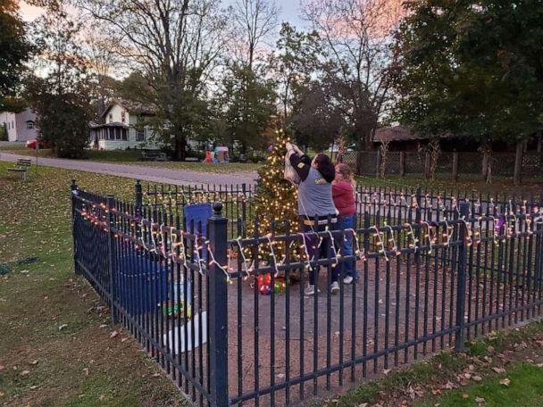 PHOTO: The town of Ulster, PA is decorating for the holidays early this year. (Jody Davidson )