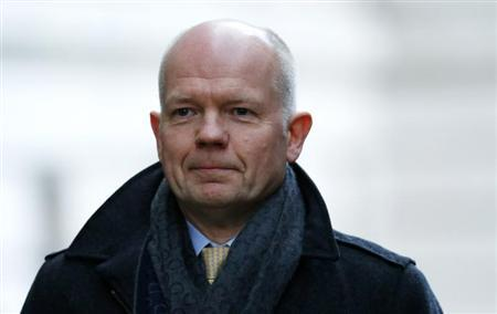 Britain's Foreign Secretary Hague leaves 10 Downing Street after a cabinet meeting in London