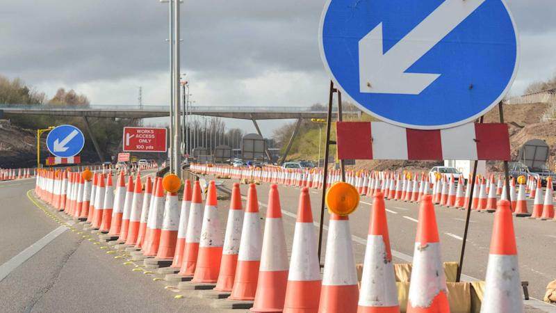 UK motorway roadworks on A1(M)