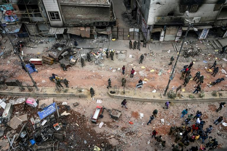 Riot-hit areas of Delhi lie in ruins after clashes this week