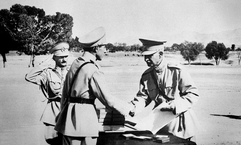 Reza Shah (right), founder of the Pahlavi dynasty in Iran