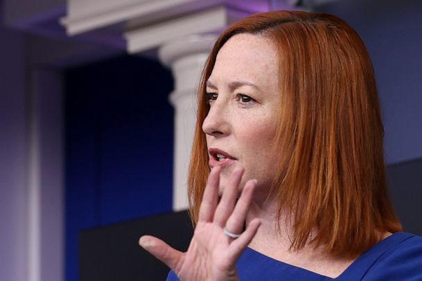 White House press secretary Jen Psaki holds the daily briefing at the White House on Feb. 22, 2021.  (Jonathan Ernst/Reuters)