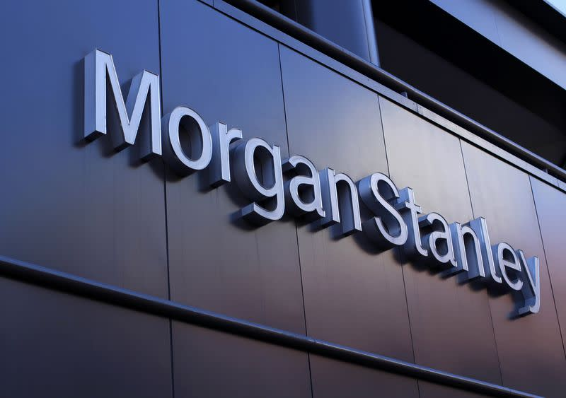 File photo of the corporate logo of financial firm Morgan Stanley on a building in San Diego