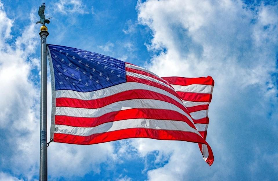 United States Flag in a breeze
