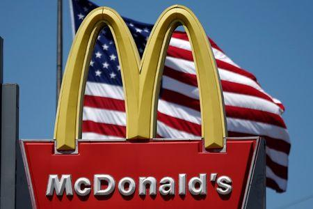 The logo of McDonald's is seen in Los Angeles, California, U.S. on April 22, 2016. REUTERS/Lucy Nicholson