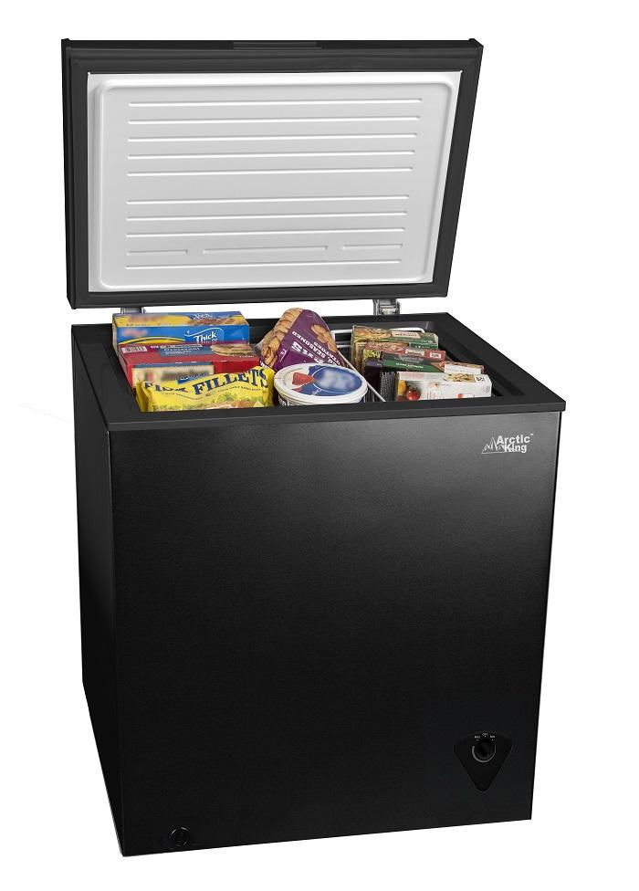 The space-saving design makes it easy to fit this chest freezer anywhere in your garage. (Photo: Walmart)