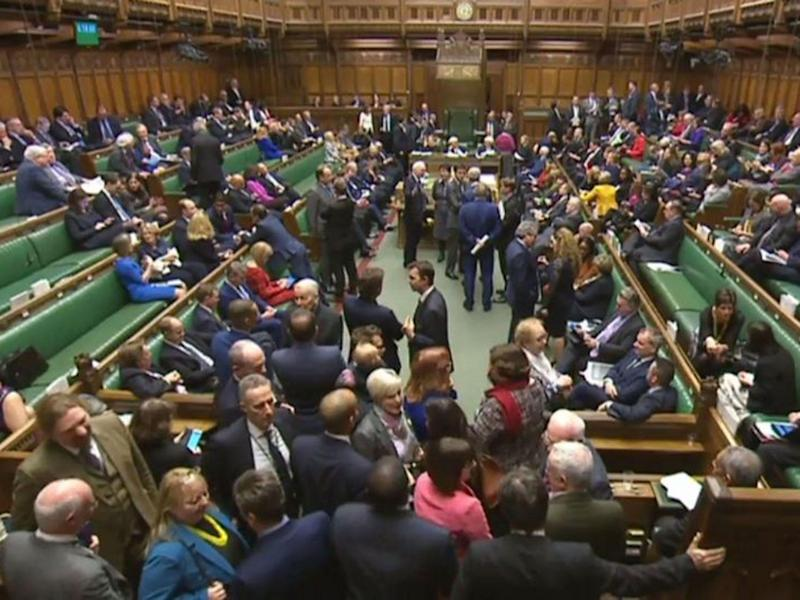 MPs during a vote in the House of Commons: AFP