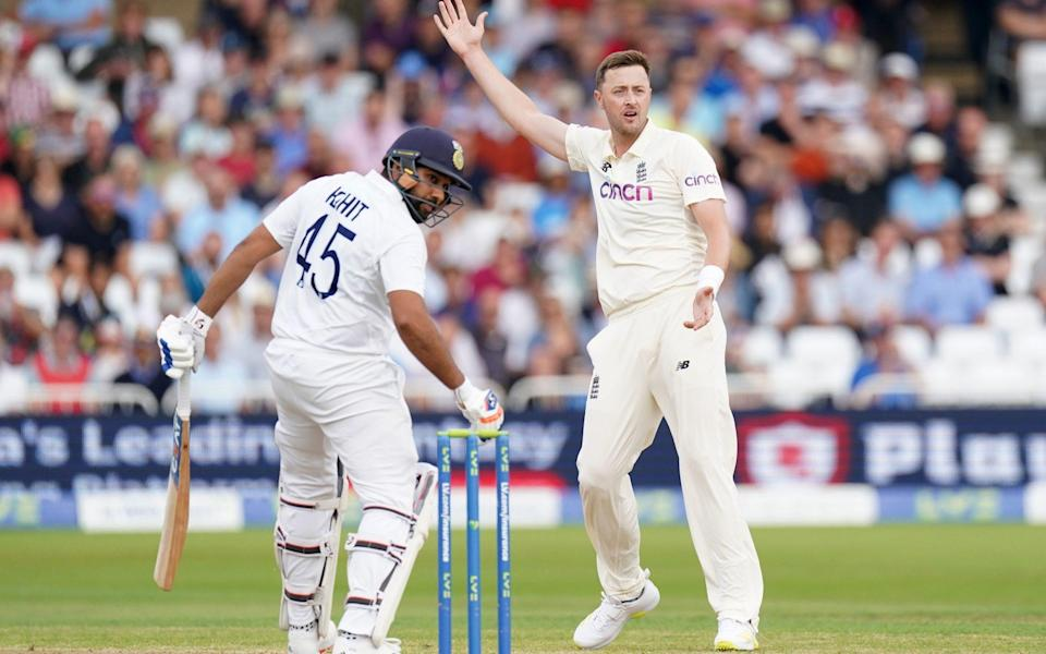Ollie Robinson appeals for a wicket - PA/PA
