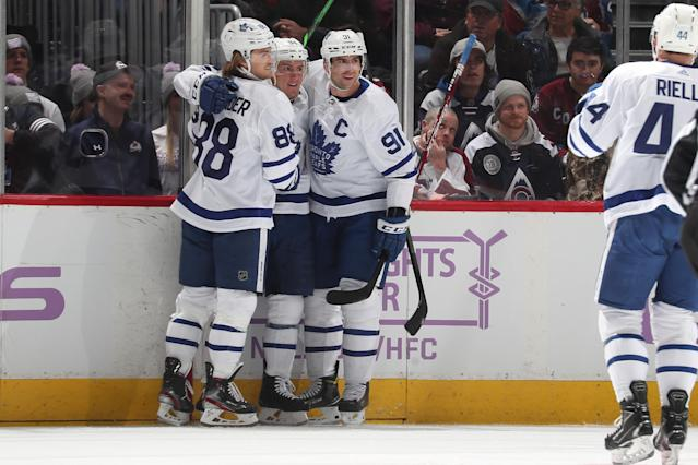 The Leafs put together a solid showing against the Colorado Avalanche for a second straight win. (Photo by Michael Martin/NHLI via Getty Images)