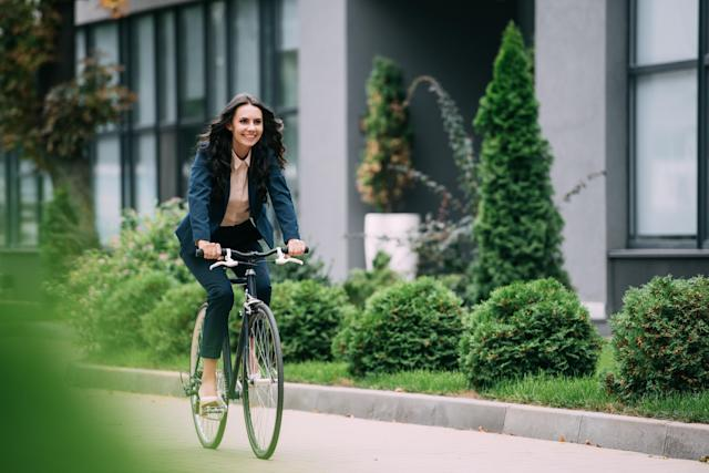 Cycling to work could help you stay healthy. (Getty Images)