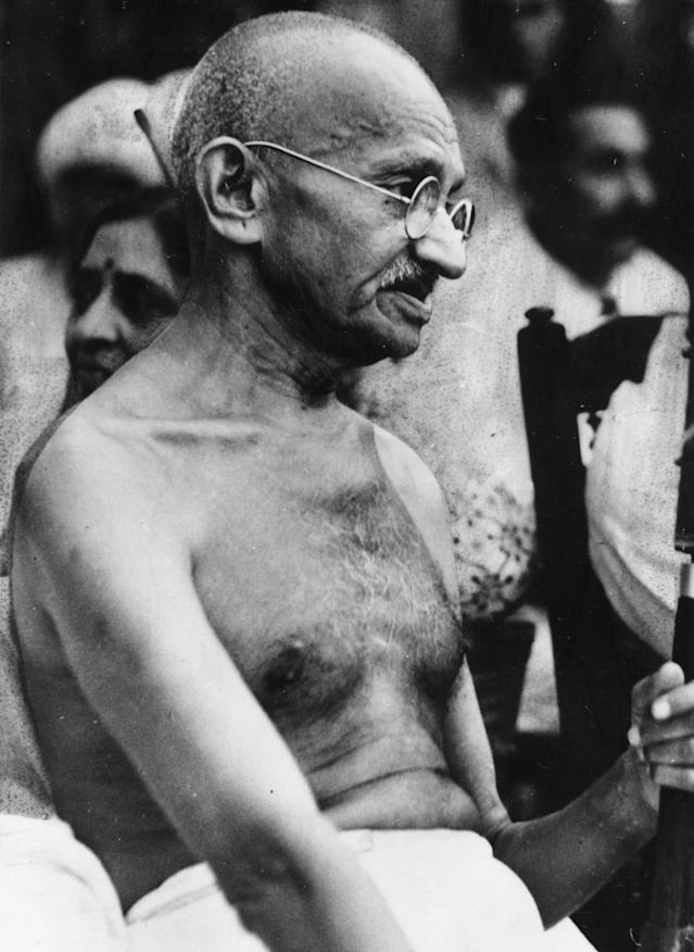 Mohandas Karamchand Gandhi (1869 – 30 January 1948) preeminent leader of Indian independence movement in British-ruled India. (Photo by: Universal History Archive/Universal Images Group via Getty Images)