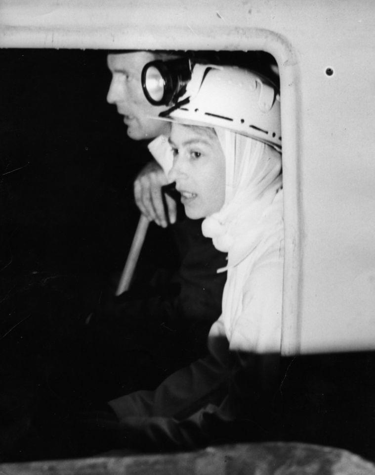 <p>In 1958 Queen Elizabeth II made her first descent of a coal mine, at Rothes Colliery in Fifeshire. She spent half an hour beneath the ground. (PA Archive) </p>