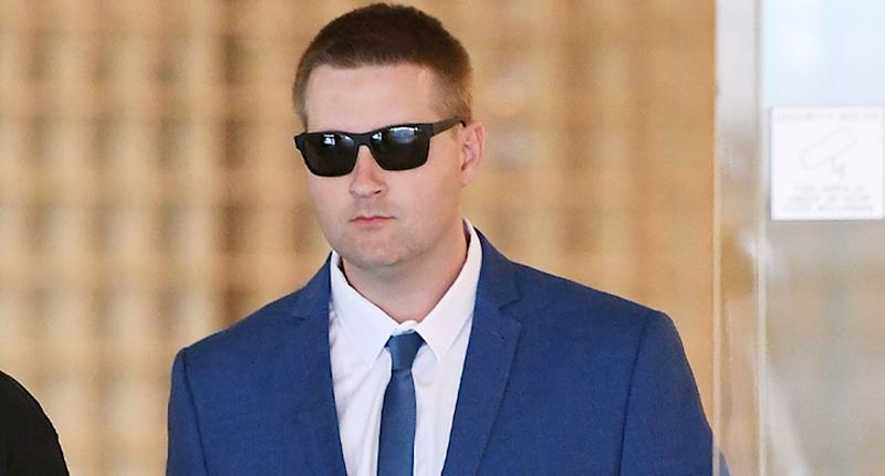 Police constable Andrew Bruce who let rapist Anthony Sampieri off with a warning a week before he raped a seven-year-old girl.