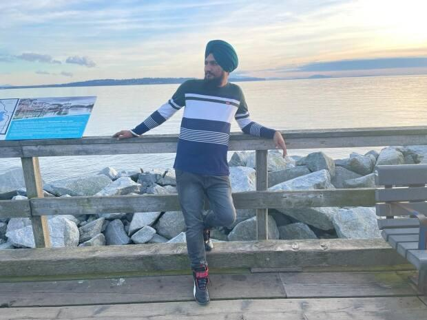 Amrinder Singh had been working in Canada for three months at the time of his death. (Submitted by Bimaljeet Kaur Kaler - image credit)