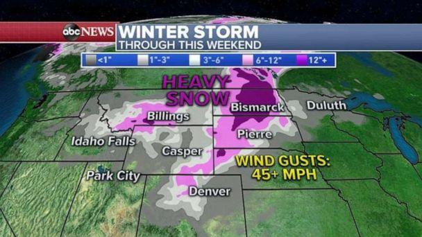 PHOTO: Winter storm through this weekend (ABC News)