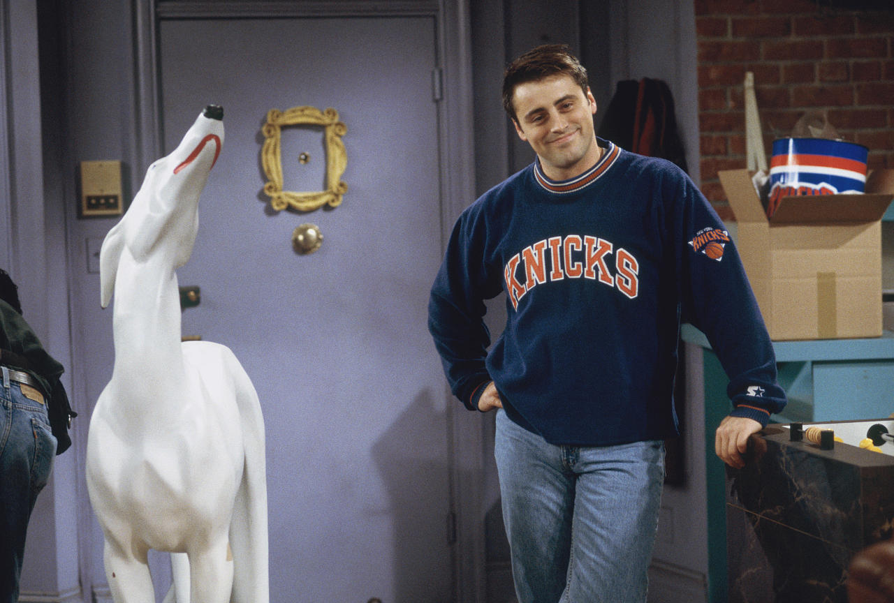 "FRIENDS -- ""The One with the Embryos"" Episode 12 -- Pictured: Matt LeBlanc as Joey Tribbiani  (Photo by J. Delvalle/NBC/NBCU Photo Bank via Getty Images)"
