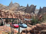 <p>At Disney's California Adventure, 1,400 solar panels sit atop the <strong>Cars</strong>-themed Radiator Springs Racers attraction, helping to power the park.</p>
