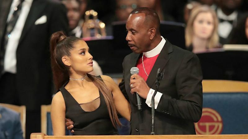 Bishop Apologizes to Ariana Grande After He's Accused of Inappropriate Touching at Aretha Franklin's Funeral