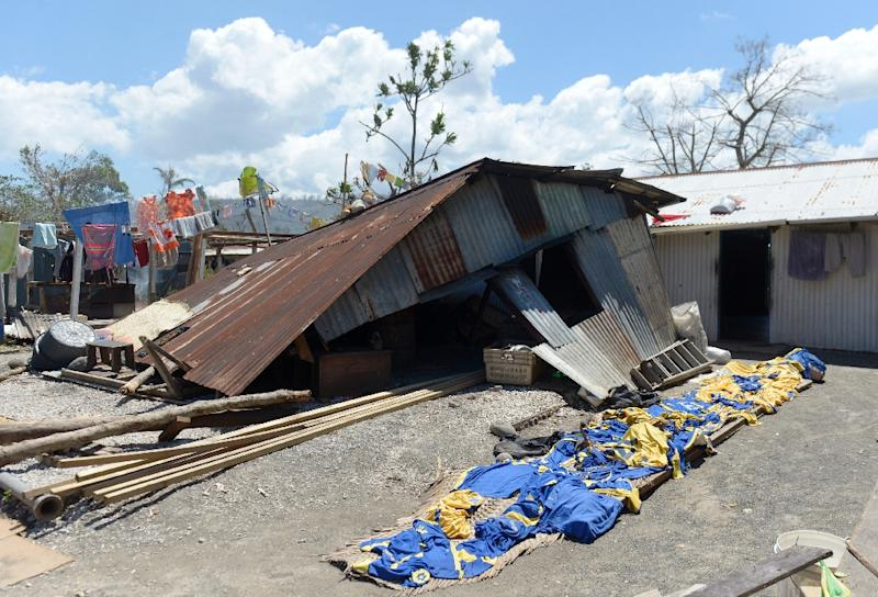 Destruction in Port Vila after Severe Tropical Cyclone Pam hit the Pacific nation of Vanuatu, March 18, 2015 (AFP Photo/Fred Payet)