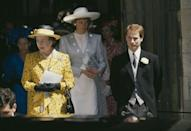 <p>The Queen wasn't about to let the '80s go by without trying out some of its bolder patterns. <br></p>