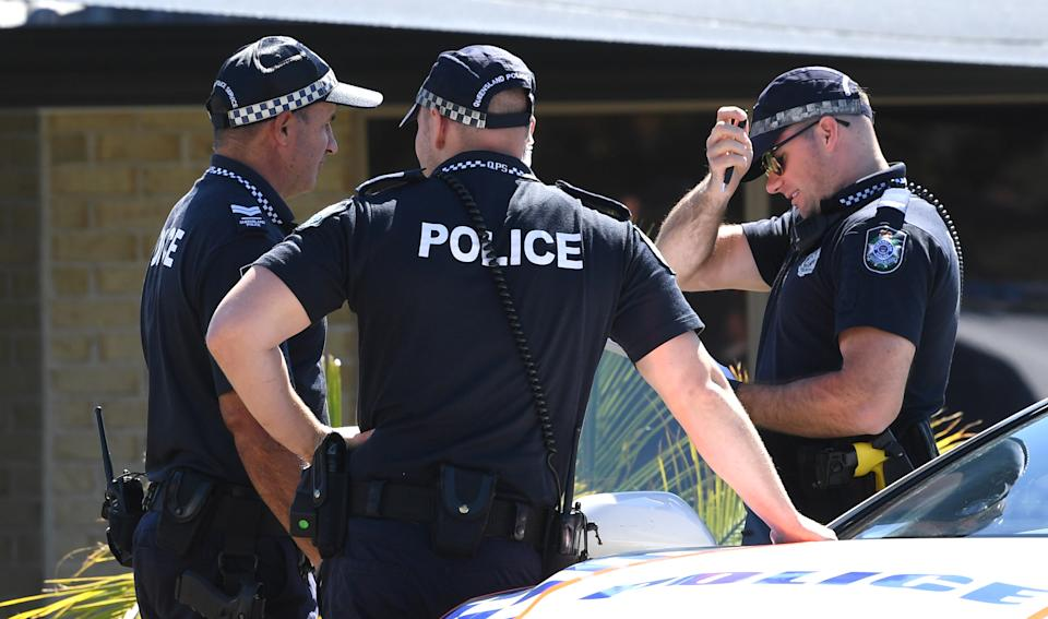 Police work at the home of murder victim Kelly Wilkinson on the Gold Coast on, April 21, 2021. Source: AAP