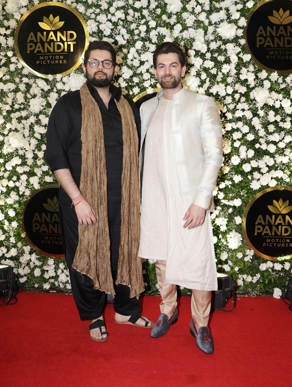 Niel Nitin Mukesh turned up with his brother for the party.