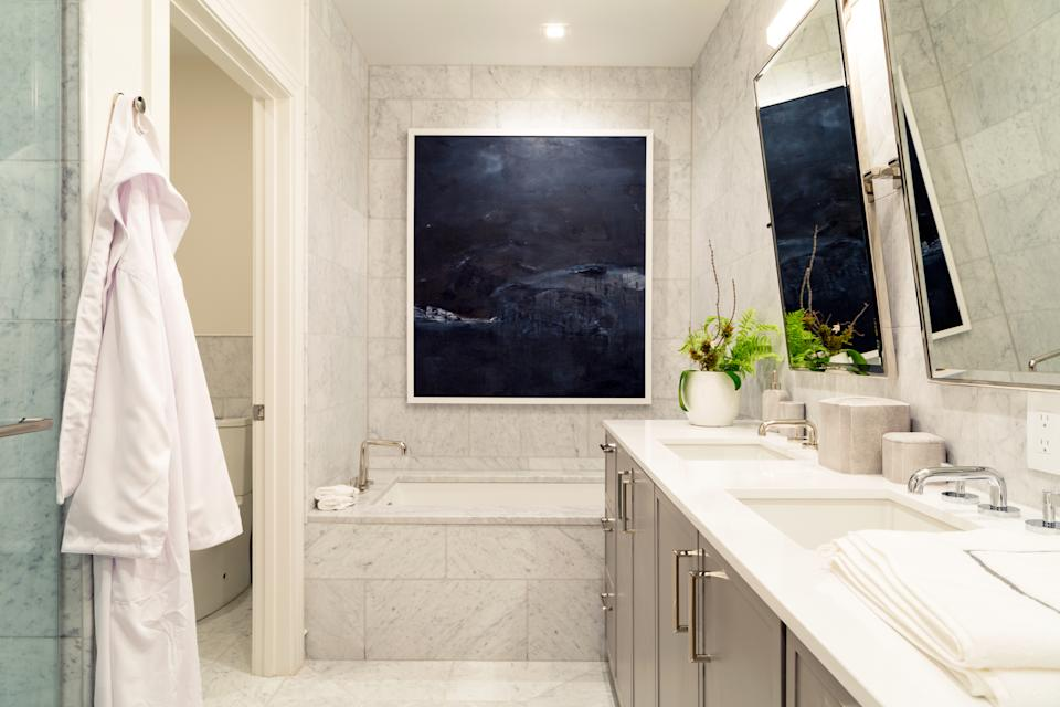 Master Bath in the sales office Model at The Ritz-Carlton Residences Photo: Getty