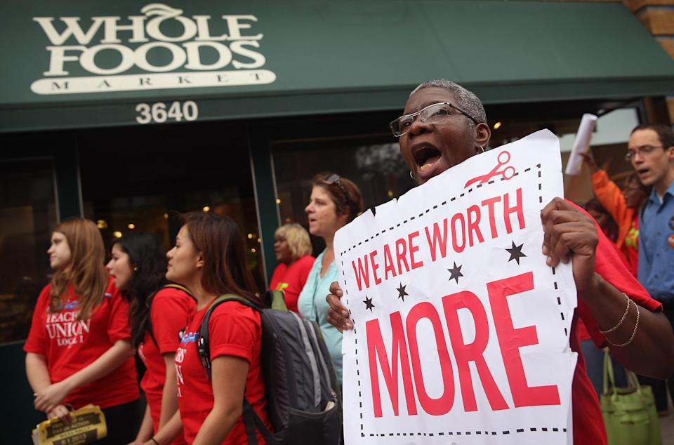 Whole Foods workers want a union. (Credit/Getty Images)