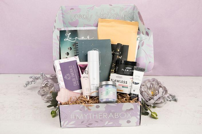 """<p>Help Mom feel good inside and out — this box features items that'll help her with her self-care, all chosen by therapists. Each time she opens one, she can expect items like journals or mindfulness activities, plus full-size products like aromatherapy oils and skincare.</p><p><strong>Price:</strong> starts at $32/box</p><p><a class=""""link rapid-noclick-resp"""" href=""""https://go.redirectingat.com?id=74968X1596630&url=https%3A%2F%2Fwww.mytherabox.com%2F&sref=https%3A%2F%2Fwww.goodhousekeeping.com%2Fholidays%2Fmothers-day%2Fg31992924%2Fbest-subscription-boxes-for-moms%2F"""" rel=""""nofollow noopener"""" target=""""_blank"""" data-ylk=""""slk:BUY NOW"""">BUY NOW</a></p>"""