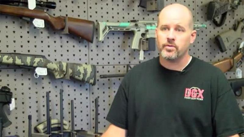 """Dixie GunWorx owner Chris Michel said Paddock """"knew exactly what he was looking for"""". Source: 7 News"""