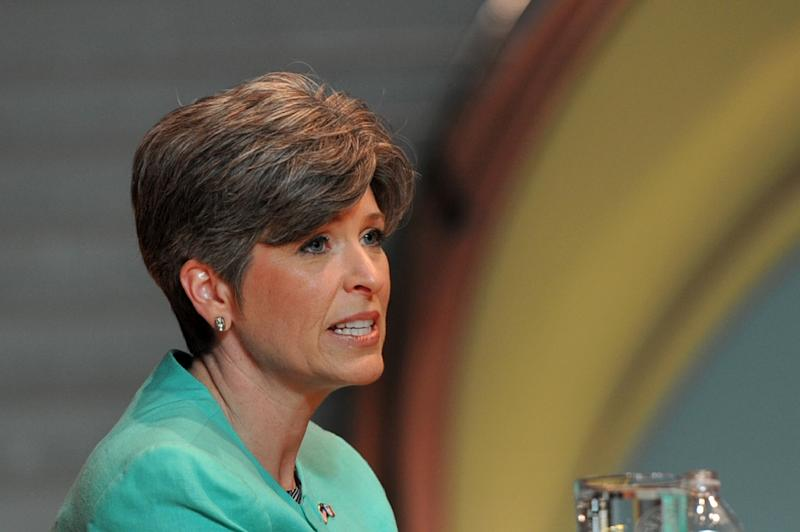 """""""I do wish that he would spend more time in Washington, DC. That's what we have the White House for,"""" Republican Senator Joni Ernst said of President Donald Trump's frequent trips to his resort in Florida"""