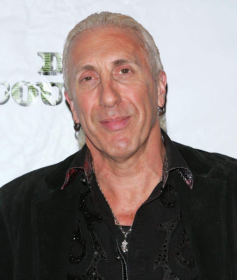 The Twisted Sister singer's make-up jobs must bring tears to RuPaul's eyes. With bright blue eye shadow and thick red blush that looked stenciled on, Dee Snider really knew how to create a memorable face. Snider's face sans the color swatches? He looks like a pretty normal guy—strip club bouncer maybe?