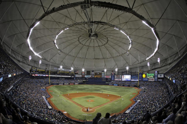 Tropicana Field had the highest number of critical food safety violations of any park in baseball, and now the Rays are suing their former concessions provider. (AP Photo)