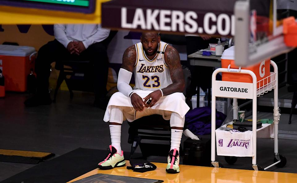 LeBron James might have to carry the Lakers in Game 5. (Photo by Keith Birmingham/MediaNews Group/Pasadena Star-News via Getty Images)