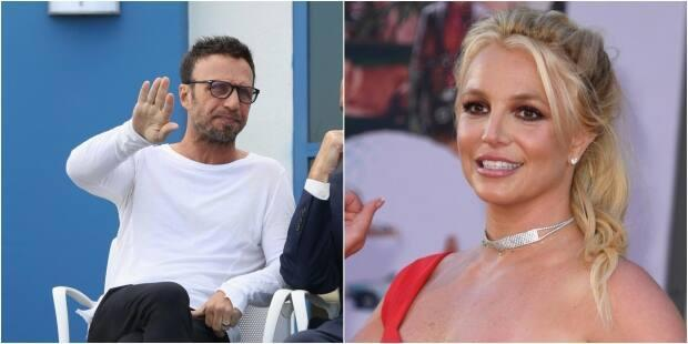 Larry Rudolph, left, has resigned as talent manager of Britney Spears. He cited the singer's reported desire to retire from the industry. (Gabe Ginsberg/Getty Images, Kevin Winter/Getty Image - image credit)