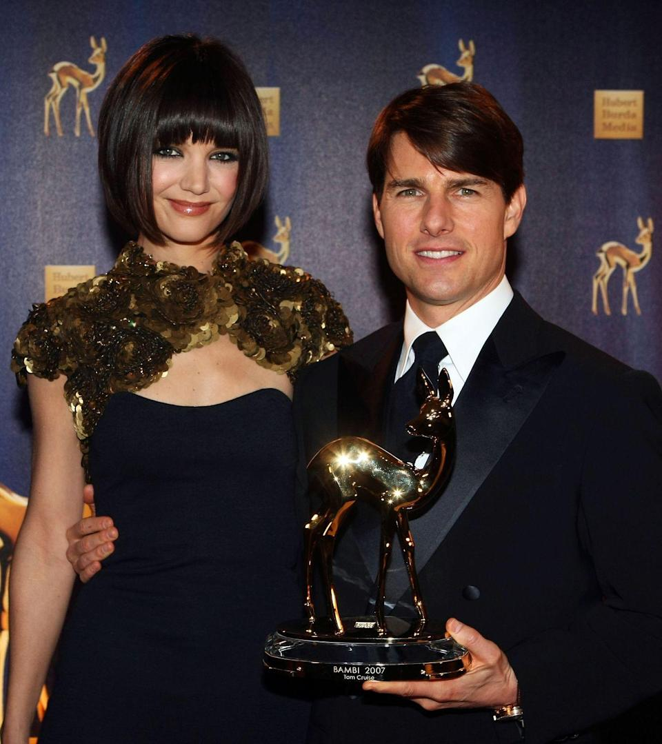 "<p>Actor Tom Cruise has been married <a href=""https://www.today.com/news/all-three-tom-cruises-marriages-ended-when-wife-was-33-854392"" rel=""nofollow noopener"" target=""_blank"" data-ylk=""slk:three times"" class=""link rapid-noclick-resp"">three times</a>. His first wife was actress Mimi Rogers, from 1987 to 1990. He then married actress <a href=""https://www.womenshealthmag.com/beauty/a32347678/nicole-kidman-skincare-tips/"" rel=""nofollow noopener"" target=""_blank"" data-ylk=""slk:Nicole Kidman"" class=""link rapid-noclick-resp"">Nicole Kidman</a> later in 1990, and they separated in 2001. He married actress <a href=""https://www.womenshealthmag.com/life/a33595149/katie-holmes-kamala-harris-joe-biden/"" rel=""nofollow noopener"" target=""_blank"" data-ylk=""slk:Katie Holmes"" class=""link rapid-noclick-resp"">Katie Holmes</a> in 2006, and they divorced in 2012.<br></p>"