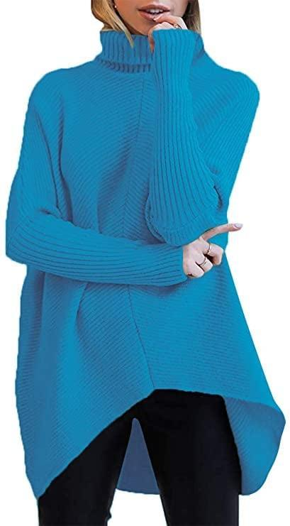 <p>If you love vibrant shades, get the <span>Turtleneck Long Sleeve Sweater</span> ($36) in royal blue.</p>