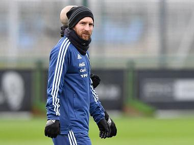 Messi's side are based at the Football Academy of Premier League leaders City while they prepare for the friendly at Eastlands on Friday.