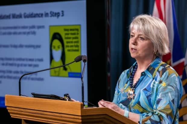 Provincial Health Officer Dr. Bonnie Henry has said B.C. is unlikely to put back in place the mass restrictions that were in place from November 2020 to May 2021. The number of daily COVID-19 cases in the province has tripled during the past three weeks, with most new cases in the Interior, where there have been lower vaccination rates. (Mike McArthur/CBC - image credit)