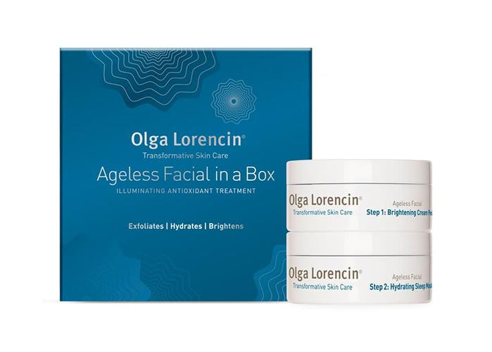 The Olga Lorencin Ageless Facial in a Box is also formulated with ferulic acid, which is an antioxidant that protects against UV damage. (Photo: Dermstore)