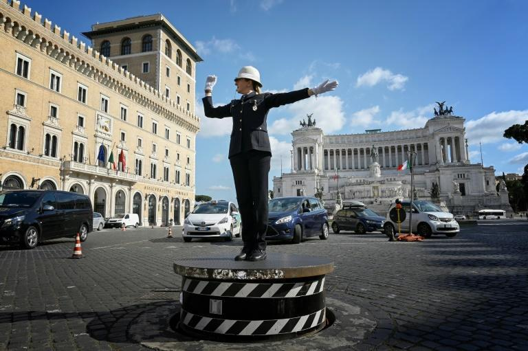 "The raised traffic police platform on Piazza Venezia went back into service this month, with Mayor Virginia Raggi calling it ""a symbol of Rome"""