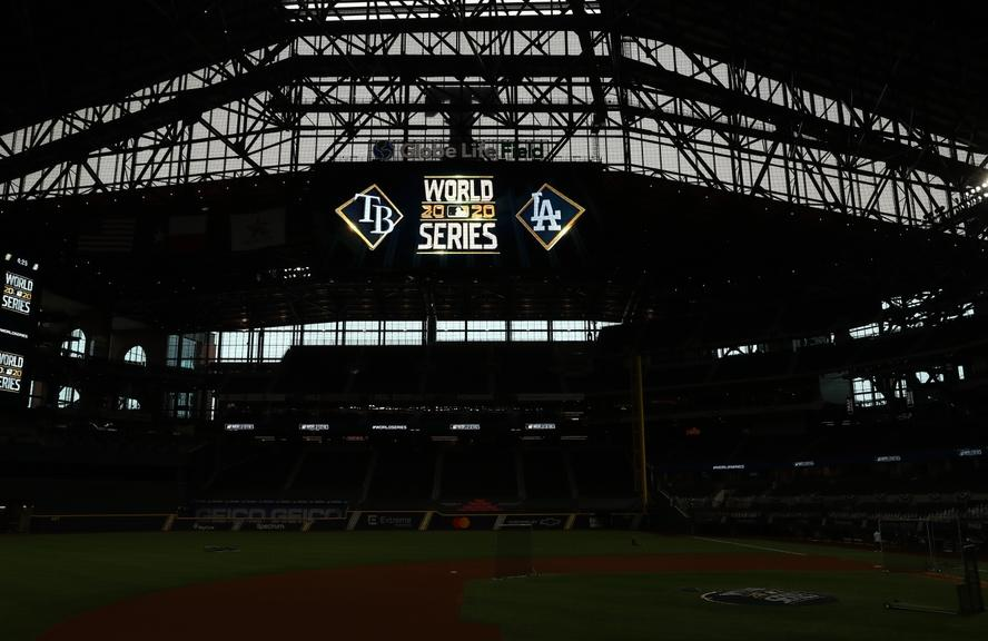 A general view at Globe Life Field as the Dodgers and Rays prepare for the 2020 World Series