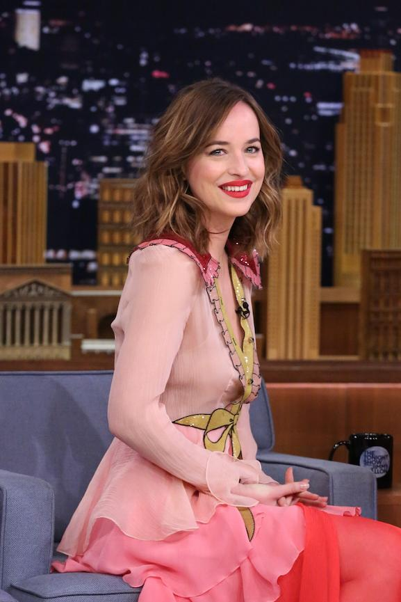 Dakota Johnson's chic tousled bob is the stuff that hair goals are made of...