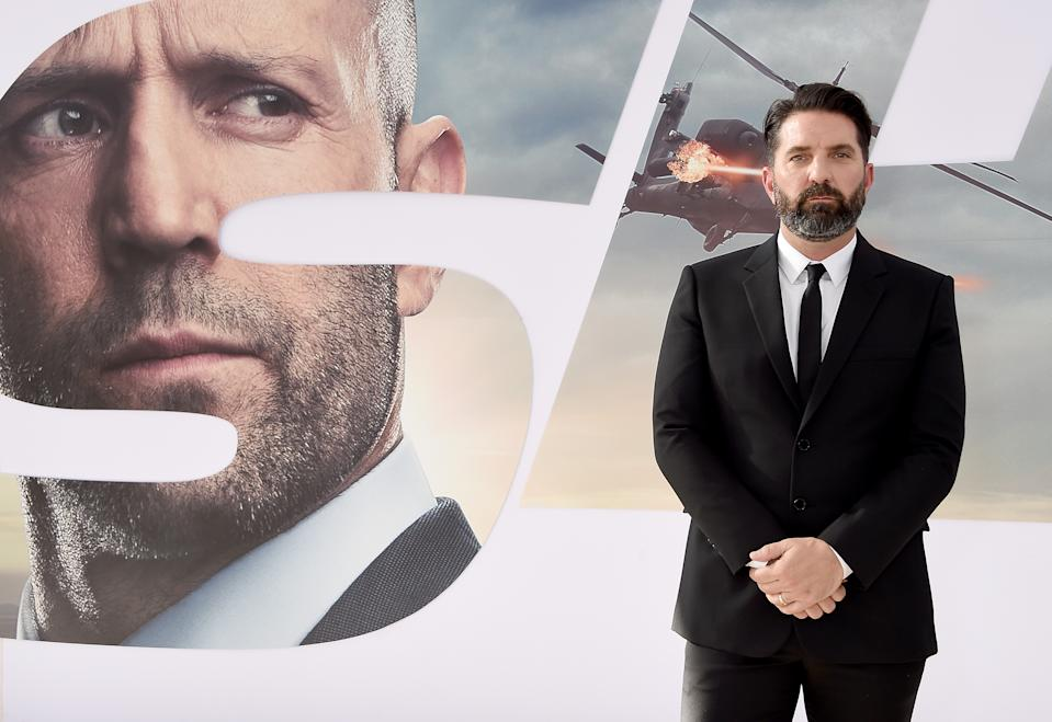 """HOLLYWOOD, CA - JULY 13:  Drew Pearce  arrives at the Premiere Of Universal Pictures' """"Fast & Furious Presents: Hobbs & Shaw"""" at Dolby Theatre on July 13, 2019 in Hollywood, California.  (Photo by Gregg DeGuire/WireImage)"""
