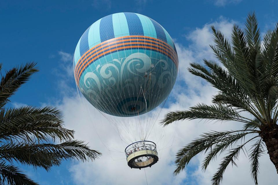 Aerophile can carry more than two dozen passengers 400 feet over Disney Springs.