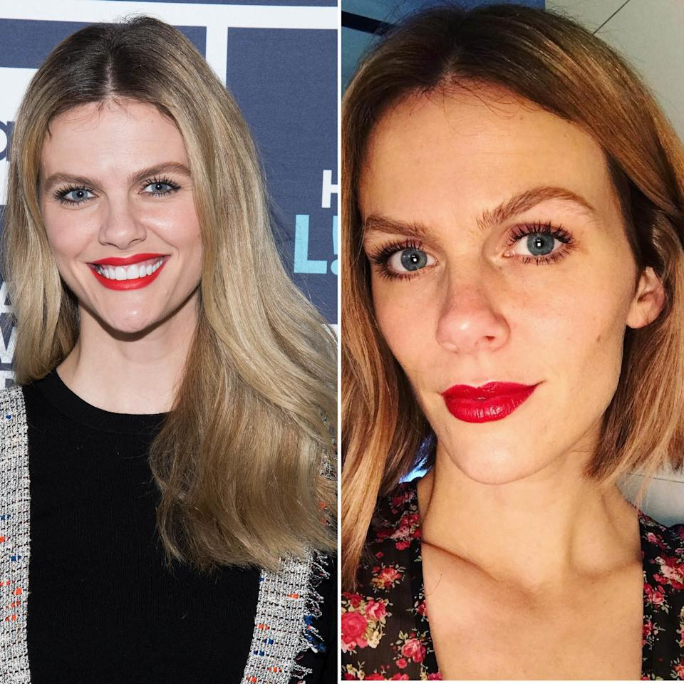 "Brooklyn Decker just got a major cut and color, courtesy of hairstylist <a rel=""nofollow"" href=""https://www.instagram.com/balayagedboho/"">Melanie Packer</a>. The actress <a rel=""nofollow"" href=""https://www.instagram.com/p/BmWQiEcAAil/?taken-by=brooklyndecker"">shared a video</a> of the stylist taking her shears to her formerly long, blonde hair, with the words, ""so this is finally happening"" written across the screen. Now, Decker's got a bob appears to be asymmetrical, grazing just past her chin. It's also now got a peachy, rosy hue that is absolute perfection with her skin tone."